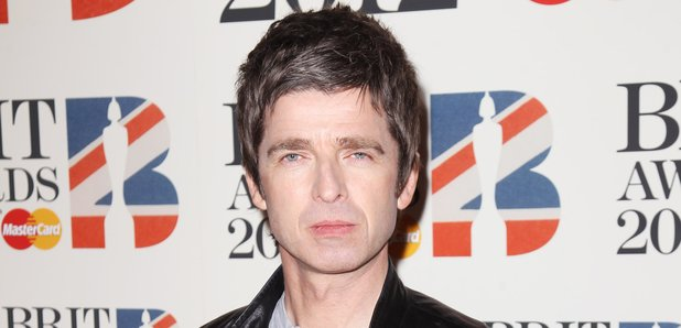 Noel Gallaghe on the red carpet at the BRIT Awards