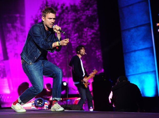 Blur perform at the BT London Live,
