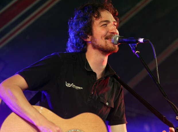 Frank Turner on stage at Reading Music Festival
