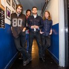 The Vaccines XFM Winter Wonderland 2013 backstage