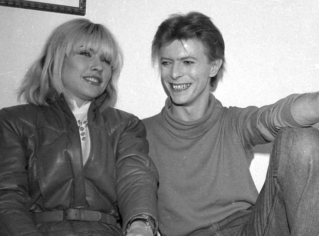 David Bowie with Debbie Harry