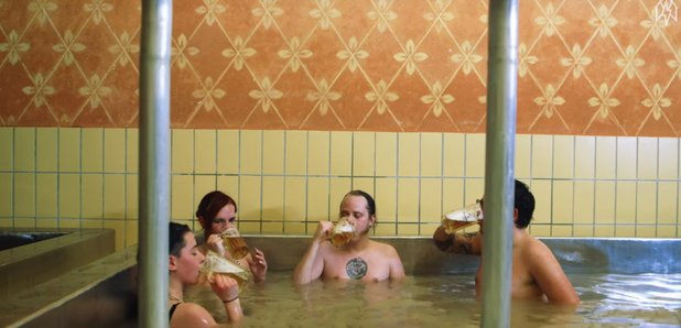 Austria Brewery Beer Hot Tub Youtube video still