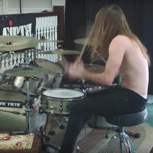 Man Drums Flintstones