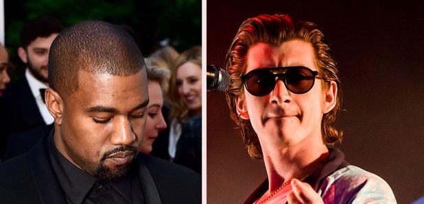Kanye West and Alex Turner splitscreen image 2016