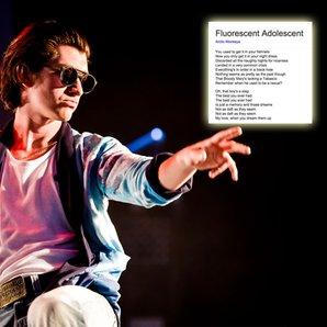 Alex Turner with Arctic Monkeys google lyrics sear