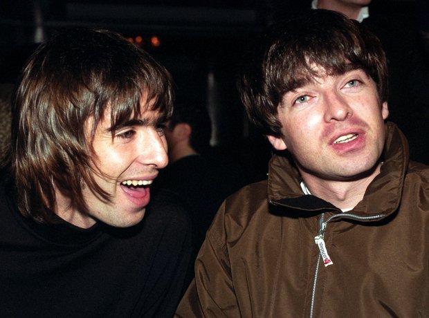 Oasis At The Q Awards in November 1996