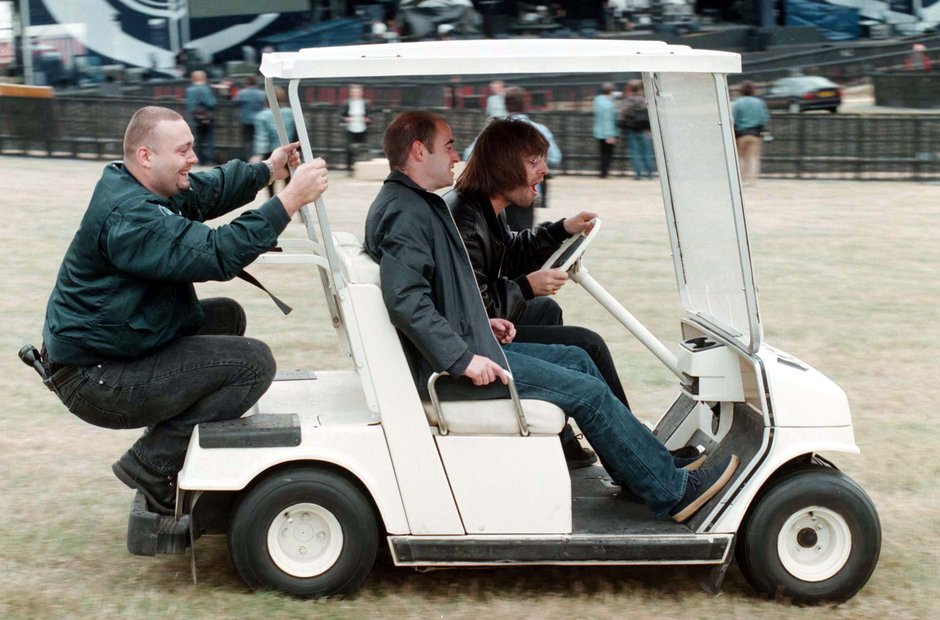 Liam and Bonehead go for a ride