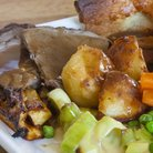 Roast dinner Sunday lunch stock image