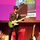 Johnny Marr onstage at the Barbican November 2016