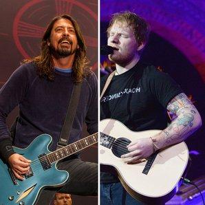 Dave Grohl Ed Sheeran split image