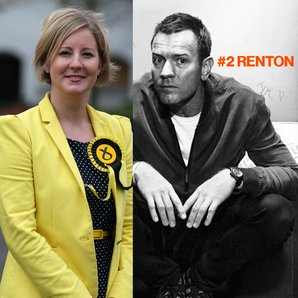 Scottish MP Hannah Bardell and Ewan McGregor as Re