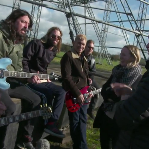 Foo Fighters and the Eavis' at Glastonbury Pyramid
