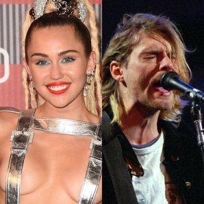 Miley Cyrus and Kurt Cobain