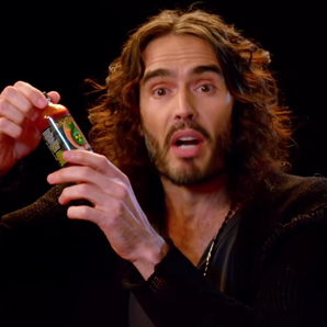 Russell Brand serenades fan freestyle song