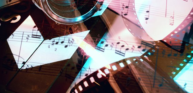 Film score music stock image