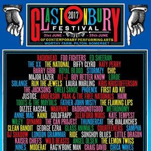 Glastonbury Line-Up poster 2017