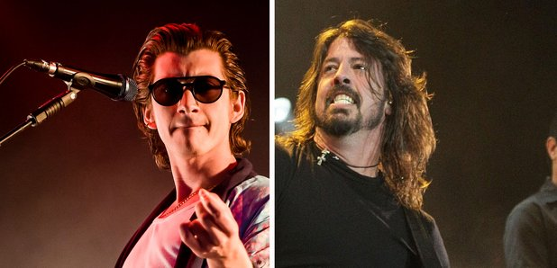 Alex Turner and Dave Grohl