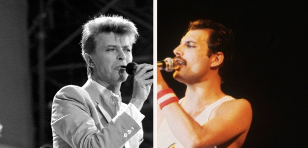David Bowie and Freddie Mercury