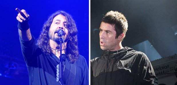 Dave Grohl and Liam Gallagher