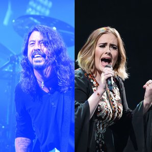 Foo Fighters Dave Grohl and Adele