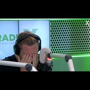 Toby Tarrant hungover Chris Moyles show