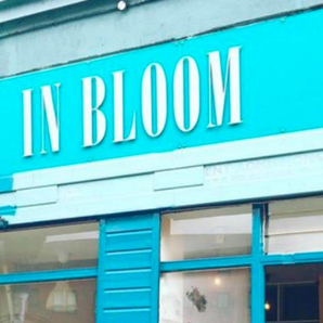 Nirvana themed vegan restaurant In Bloom